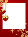 Valentines frame background. Royalty Free Stock Photos
