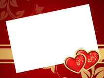 Valentines frame background. Stock Photos