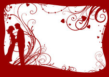 Valentines frame with couple Royalty Free Stock Images
