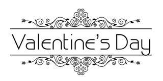 Valentines frame floral stock image