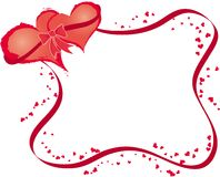 Valentines frame with hearts, vector Stock Image