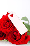 Valentines gift of beautiful red roses Stock Image