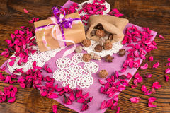 Valentines gift stock photography