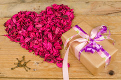 Valentines gift still life Royalty Free Stock Image