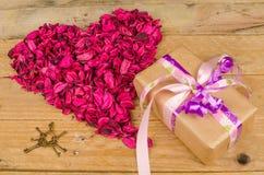 Valentines gift still life Royalty Free Stock Image