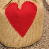 Valentines gift surprise Stock Photo