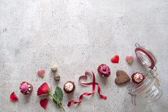 Valentines gifts background Stock Photos