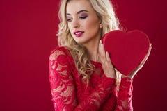Valentines girl Stock Photography