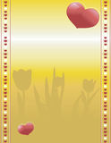 Valentines on gold background Royalty Free Stock Image