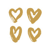Valentines golden heart symbol Royalty Free Stock Images