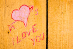 Valentines graffiti background Royalty Free Stock Image