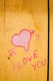 Valentines graffiti Royalty Free Stock Photos