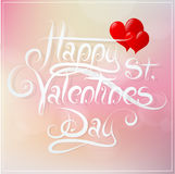 Valentines greeting card design Stock Photos