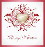 Valentines greeting card with heart. Royalty Free Stock Images
