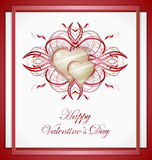 Valentines greeting card with heart. Illustration 10 version Stock Photo
