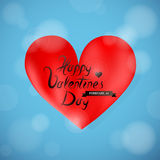 Valentines greeting card Stock Image