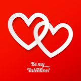 Valentines greeting card Stock Images
