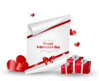 Valentines greeting card Royalty Free Stock Photography