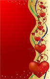 Valentines greeting card, vector illustration Stock Image