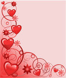 Valentines greeting card, vector illustration Stock Photography