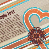 Valentines grunge retro background Royalty Free Stock Images