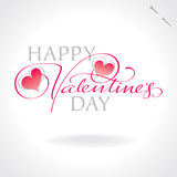 Valentines hand lettering (vector) Royalty Free Stock Image