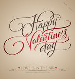 Valentines Hand Lettering (vector) Royalty Free Stock Photography