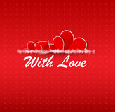 Valentines happy day winter background. card vector illustration Stock Photos