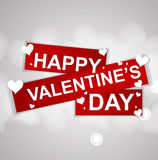 Valentines happy day winter background. card vector illustration Stock Image