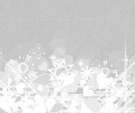 Valentines happy day winter background. card vector illustration Royalty Free Stock Image