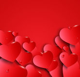 Valentines happy day winter background. card vector illustration Royalty Free Stock Photos