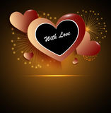Valentines happy day winter background. card vector illustration Royalty Free Stock Photo