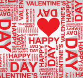 Valentines happy day winter background. card vector illustration Royalty Free Stock Photography