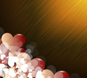 Valentines happy day winter background. card vector illustration Stock Photography