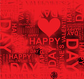 Valentines happy day winter background. card vector illustration Stock Photo