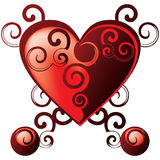 Valentines heart. Abstract tribal heart, grouped illustration for easy editing Stock Images
