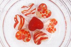 Valentines heart. With glass. 2010 Royalty Free Stock Photo
