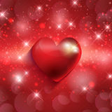 Valentines heart background Stock Photography