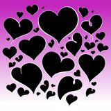 Valentines heart background Stock Photo