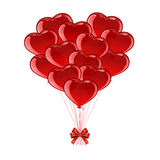 Valentines heart from balloons Royalty Free Stock Photos