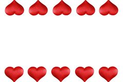 Valentines heart border Stock Photos