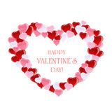 Valentines heart from the bubble Royalty Free Stock Image