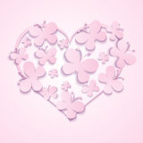 Valentines Heart of butterflies Stock Photography