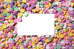 Valentines Heart Candy Background Royalty Free Stock Photography