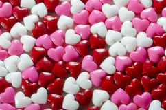 Valentines Heart Candy Background Stock Image