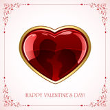 Valentines heart with couple Stock Photo