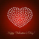 Valentines heart from diamonds Royalty Free Stock Image