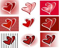Valentines Heart duo icons Stock Images