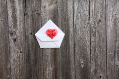 Valentines heart on envelope Royalty Free Stock Photography