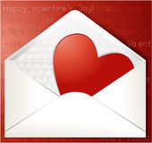 Valentines heart in envelope Royalty Free Stock Photo